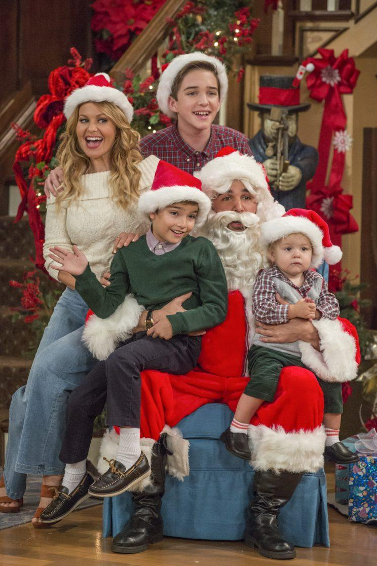 Candace Cameron Bure, Michael Campion, Elias Harger (Credit: Michael Yarish/Netflix)