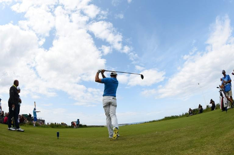 McIlroy practised at Portrush on Tuesday (AFP Photo/ANDY BUCHANAN                       )