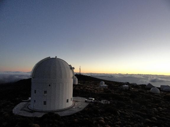 The European Space Agency's Optical Ground Station on the volcanic island of Tenerife., Spain, is used for quantum communication and teleportation experiments, as well as for laser communication with satellites, space debris tracking and astero