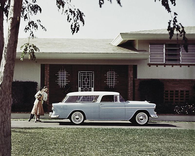 Before the SUV, Americans craved cars that lent more flexibility. Voila, the station wagon! Seen here is the 1955 Chevrolet Bel Air Nomad Station Wagon. Picture received from General Motors July 2011 for the Chevrolet centennial.