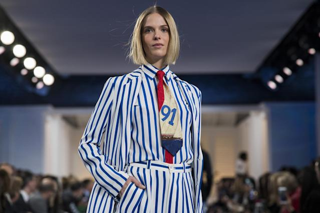 c6a012c6 A model presents a creation by Ralph Lauren during New York Fashion Week on  February 12