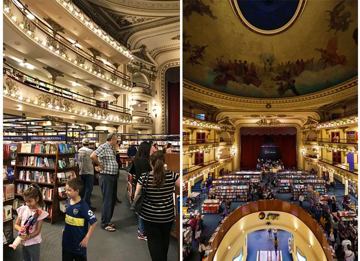 There are books for everyone, young and old alike (left). No other bookstore quite conjures such a vision of heaven and earth.