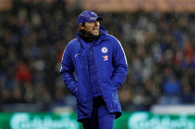 "Antonio Conte's hard-charging management might be wearing thin on <a class=""link rapid-noclick-resp"" href=""/soccer/teams/chelsea/"" data-ylk=""slk:Chelsea"">Chelsea</a> this season. (Reuters)"