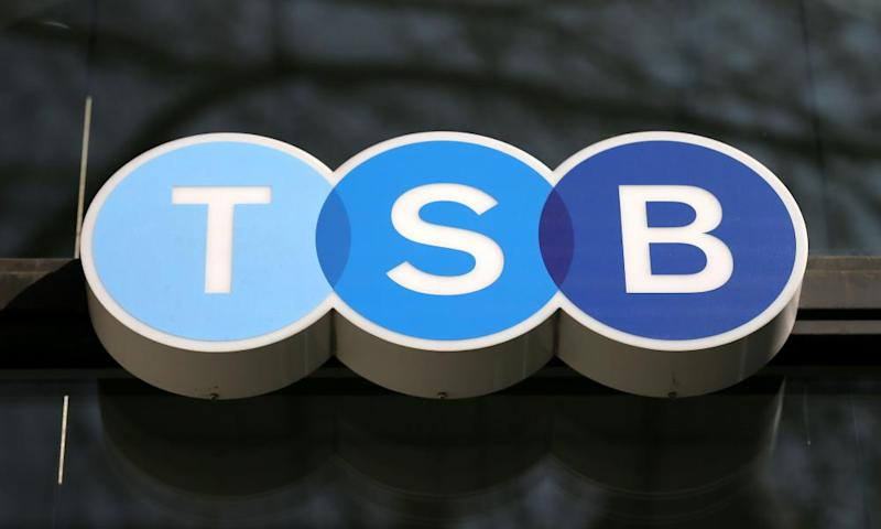 Sign outside a TSB branch