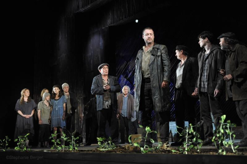"This undated theater image released by Lincoln Center Festival shows the cast  in a scene from ""Famine,"" part three of the ""DruidMurphy"" cycle, three plays by Tom Murphy presented by the Druid Theatre Company performing as part of the Lincoln Center Festival at the Gerald W. Lynch Theater at John Jay College in New York.  (AP Photo/Lincoln Center Festival; Stephanie Berger."