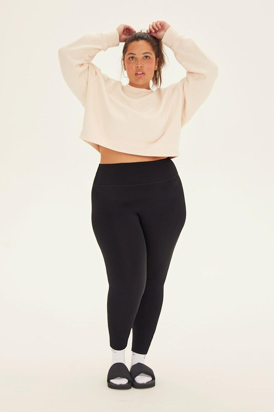 "These leggings feature a high rise, matte sheen, minimal seams and come in two different inseam sizes. <a href=""https://fave.co/2IxAeTy"" target=""_blank"" rel=""noopener noreferrer"">Originally $78, get it now for 30% off at Girlfriend Collective</a>."