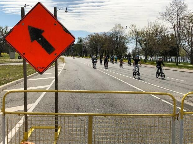 A section of Lake Shore Boulevard West was closed to traffic on weekends from May until October last year as part of ActiveTO, a program that saw 25 kilometres of temporary bikeways added as well as 15 kilometres of permanent bikeways.