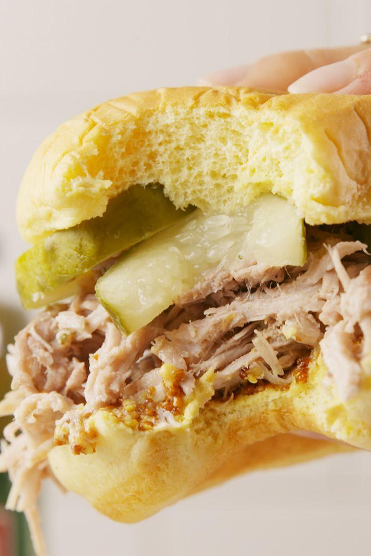 """<p>It's hard to find keto-friendly pulled pork recipe because they're typically made with sugary sauces and marinades. This recipe won't break your diet, especially when you serve the melt-in-your-mouth-meat on our <a href=""""https://www.delish.com/cooking/recipe-ideas/a19712917/keto-burger-buns-recipe/"""" rel=""""nofollow noopener"""" target=""""_blank"""" data-ylk=""""slk:Keto Burger Buns"""" class=""""link rapid-noclick-resp"""">Keto Burger Buns</a>.</p><p>Get the recipe from <a href=""""https://www.delish.com/cooking/recipe-ideas/recipes/a56301/pickleback-pulled-pork-recipe/"""" rel=""""nofollow noopener"""" target=""""_blank"""" data-ylk=""""slk:Delish"""" class=""""link rapid-noclick-resp"""">Delish</a>.</p>"""