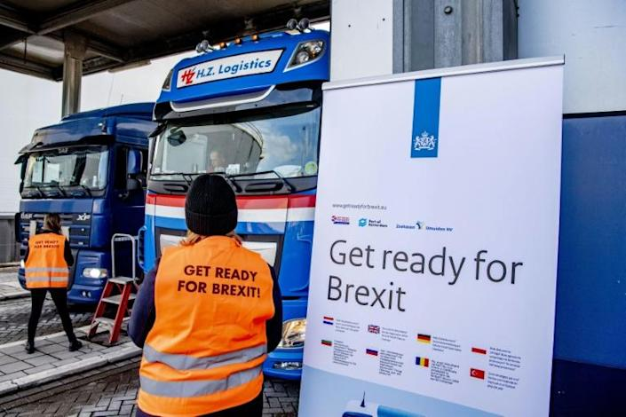 From January 1, drivers will be denied entry to ferries to Britain and stranded in a huge lorry park if they have not completed new customs procedures.