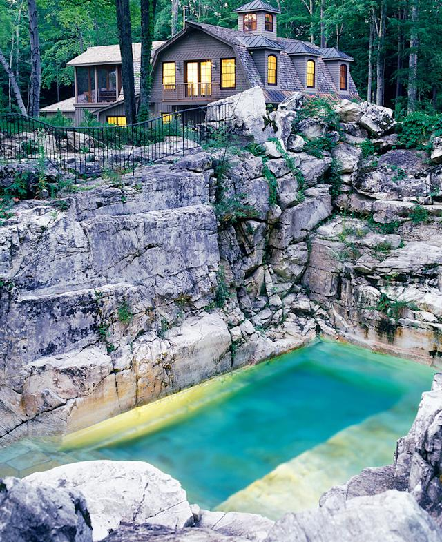 beautiful backyard is this quarry the most beautiful backyard pool in america