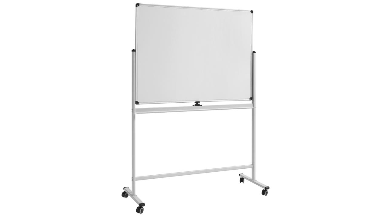 <p>Never lose track of a good idea again by brainstorming on a J.Burrows Whiteboard<br /> ($119). The double-sided surface gives you plenty of space to exercise your creativity or simply record important notes and instructions. The magnetic display will hold notes and memos, putting the whiteboard at the heart of business communication and creativity. </p>