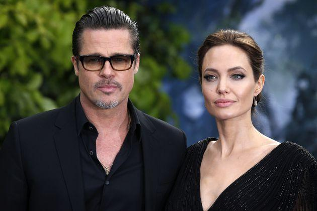 Brad Pitt and Angelina Jolie at the premiere of & # 39; Mal & # xe9; fica & # 39;  in London.  (Photo: PA Images via Getty Images)