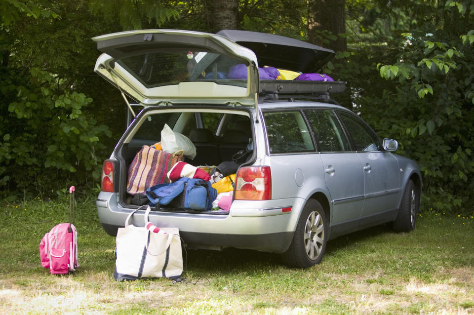 Car loaded with luggage. Source: Getty Images