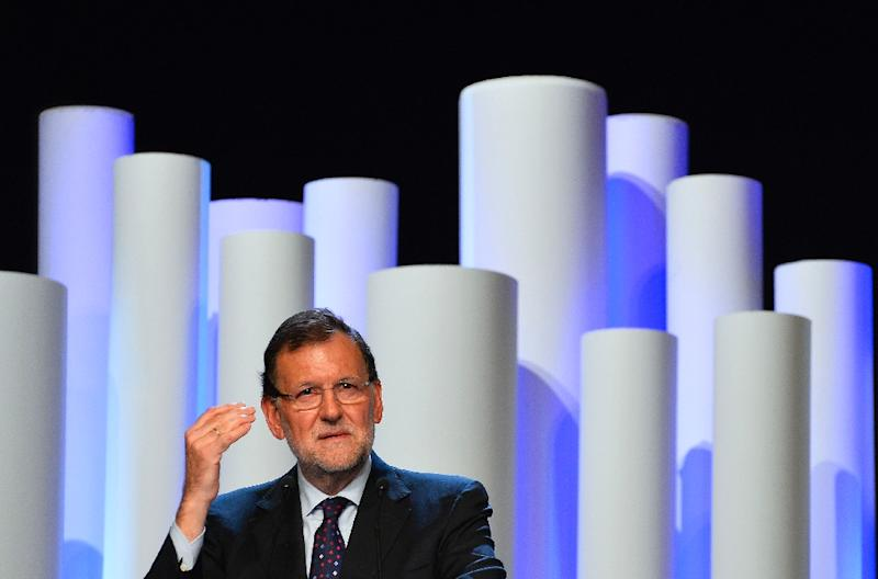 """Spanish Prime Minister Mariano Rajoy urged voters to return Catalonia to """"normality"""" after three years of mounting tension over separatist demands, fanned by the economic crisis (AFP Photo/Gerard Julien)"""