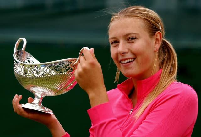 Sharapova, who defended her title at the 2005 DFS Classic, became the first Russian to top the WTA rankings later that year (Rui Vieira/PA)