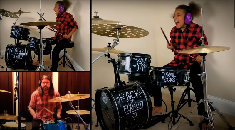 Dave Grohl loses drum-off to 10-year-old