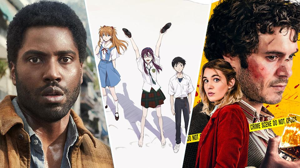 Beckett, Evangelion, The Kid Detective are all new to streaming (Netflix/Amazon/Sony Pictures)