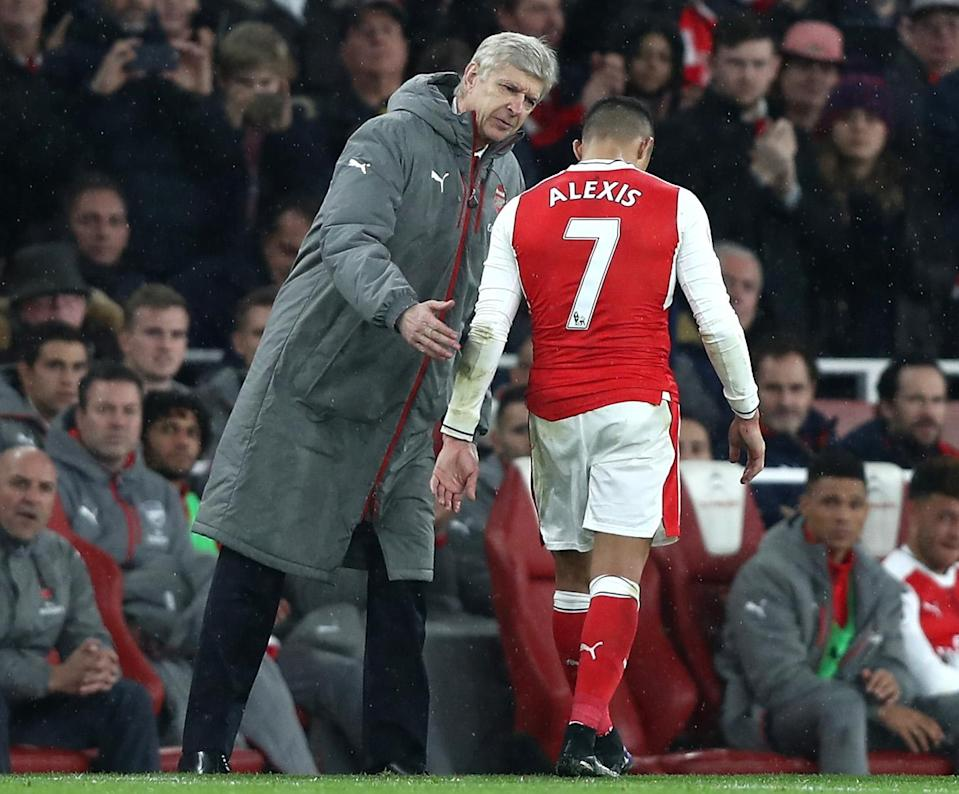 Arsene Wenger will still have Alexis Sanchez in his squad, but only physically, not in spirit. (Getty)