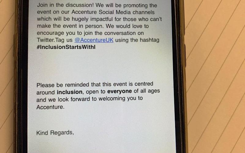 A message was sent to ticket holders telling them it was open to 'everyone of all ages' - Joani Walsh