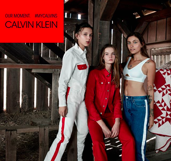 Millie Bobby Brown appears alongside Paris Jackson in a new Calvin Klein campaign [Photo: Instagram/milliebobbybrown]