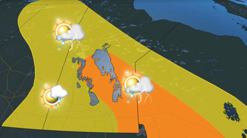 Desert-like heat starts to ease, severe-storm risk for eastern Prairies