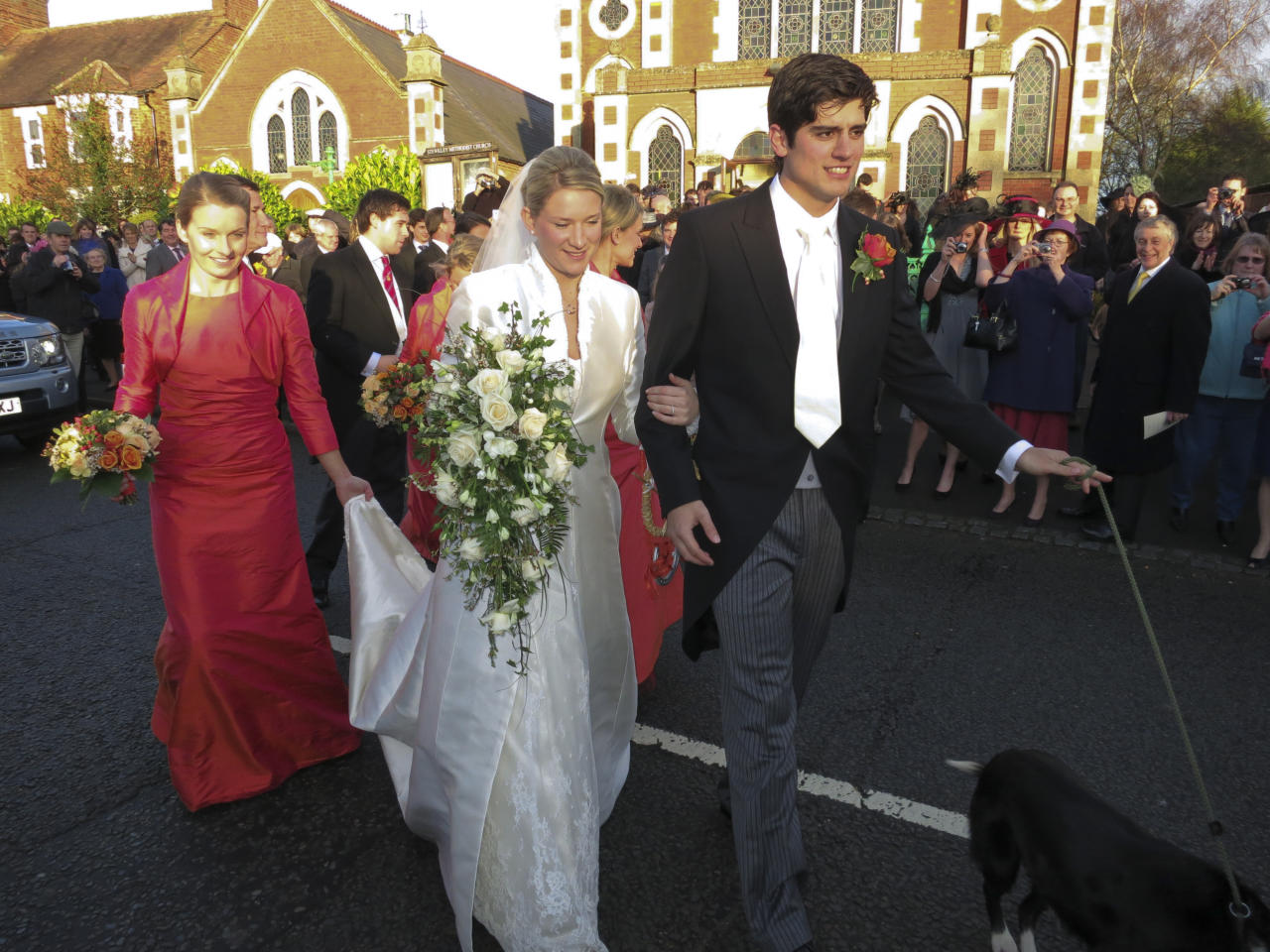 STEWKLEY, UNITED KINGDON - DECEMBER 31:  English international cricketer Alastair Cook gets married on New Year's Eve to Alice Hunt at Stewkley Methodist Church on December 31, 2011 in Stewkley, England.  (Photo by Stephen Munday/Getty Images)