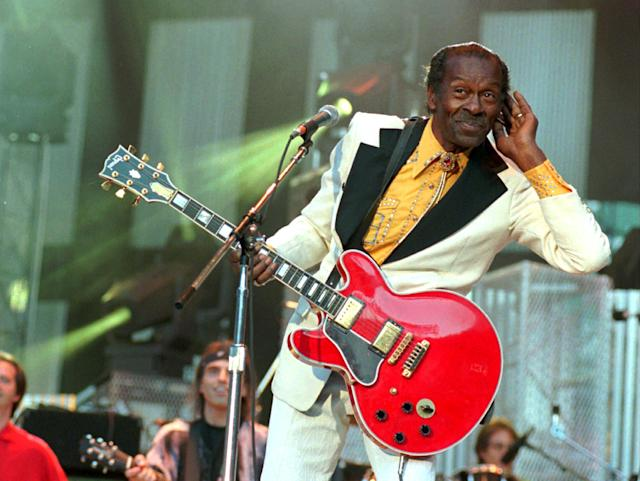 <p>Chuck Berry was a guitarist, singer and songwriter, and one of the iconic pioneers of rock 'n' roll music. He died March 18 of natural causes. He was 90.<br> (Photo: Mark Duncan/AP Photo) </p>