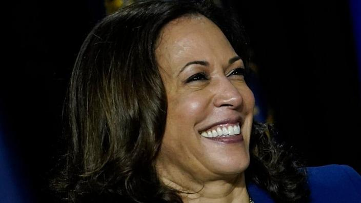 """The effort to elect Joe Biden to the White House is getting gifts from what his running mate, Kamala Harris, calls her """"secret weapon:"""" the women of Alpha Kappa Alpha Sorority, Inc. (Photo by Drew Angerer/Getty Images)"""