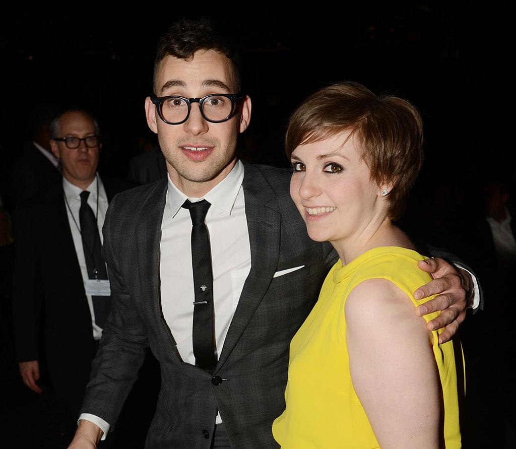 Jack Antonoff of fun. and Lena Dunham at the 55th Annual Grammy Awards at the Staples Center in Los Angeles, CA on February 10, 2013.