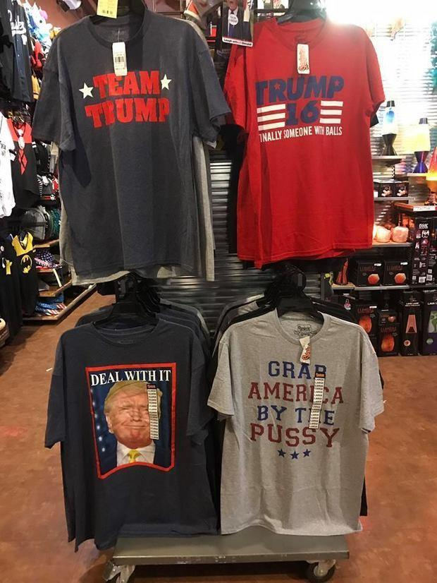 The Pro Trump T Shirt Display That Caused A Ruckus Photo