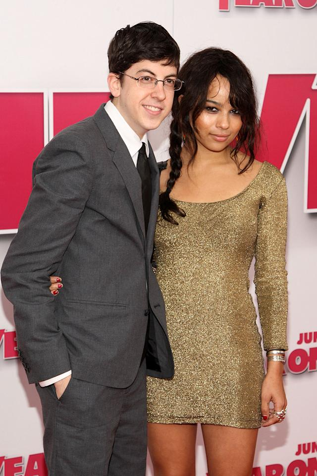 """<a href=""""http://movies.yahoo.com/movie/contributor/1809856246"""">Christopher Mintz-Plasse</a> and <a href=""""http://movies.yahoo.com/movie/contributor/1809753401"""">Zoe Kravitz</a> at the New York premiere of <a href=""""http://movies.yahoo.com/movie/1809981033/info"""">Year One</a> - 06/15/2009"""