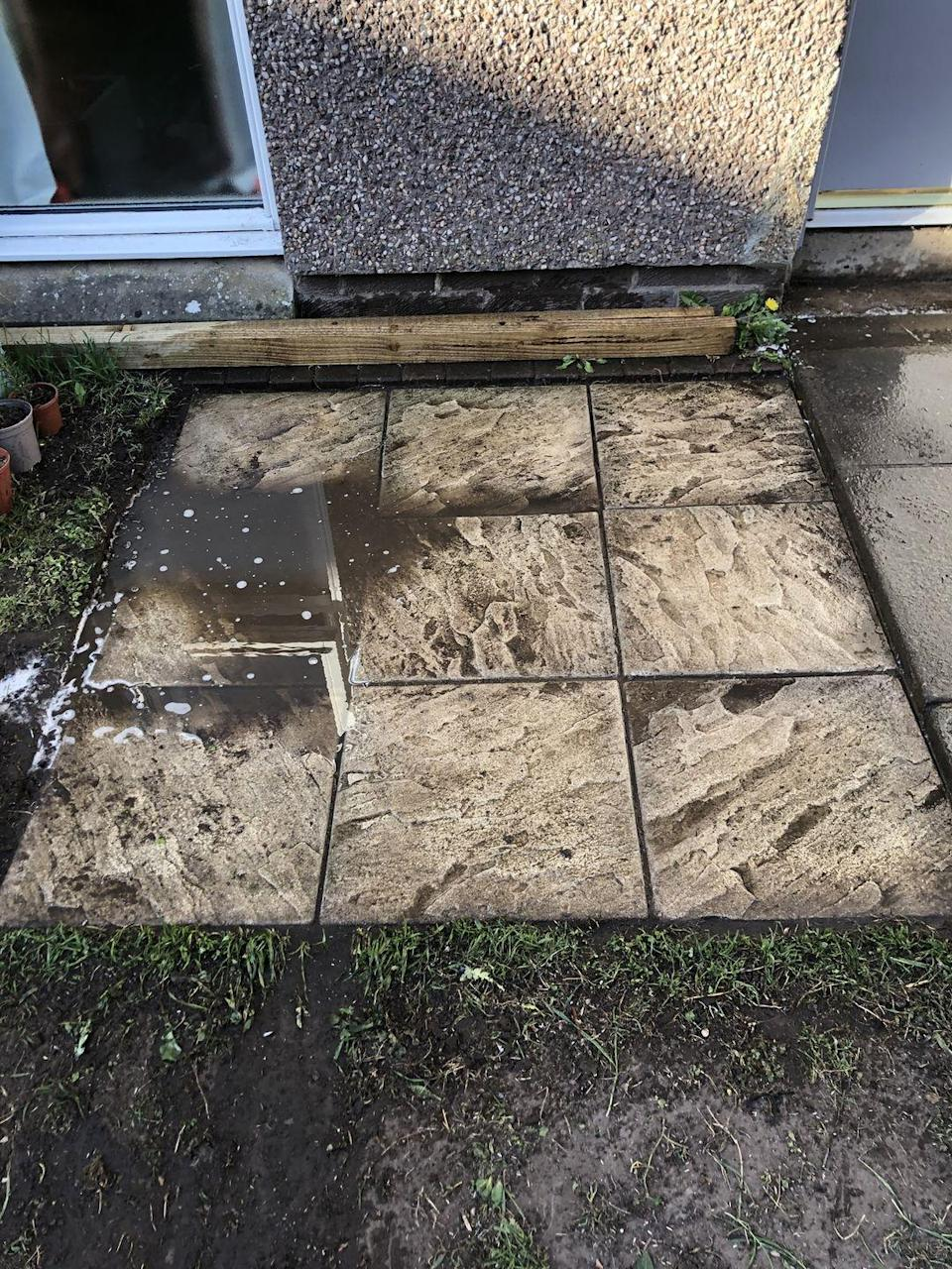 <p>Have you ever attempted to lay your own patio? Well, Katherine Cook says that her DIY patio area has 'sunk, floods, and barely fits seating'. Summer might be on its way, but we can't imagine this is the kind of space for entertaining. </p>