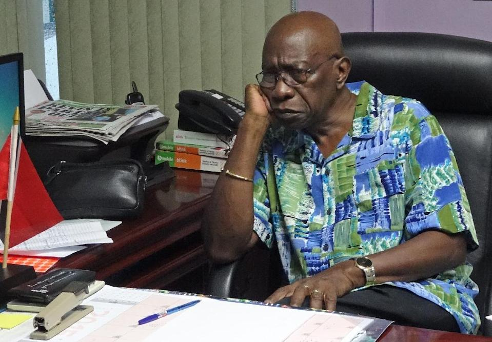 Fallen FIFA executive Jack Warner, pictured in his office on June 6, 2015 in Chaguanas, Trinidad and Tobago, said US authorities would be unable to give him a fair trial (AFP Photo/Diego Urdaneta)