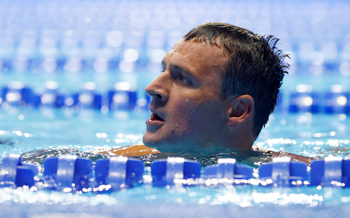 Ryan Lochte reacts after competing in the 200-meter individual medley final at the Olympic swim trials June 18 in Omaha.