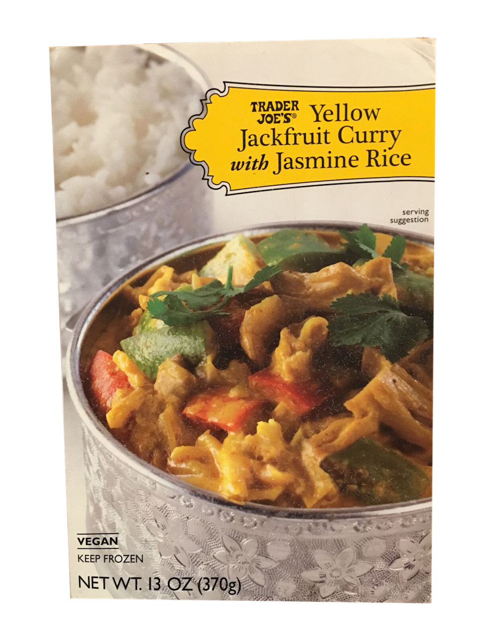 <p>I didn't know what jackfruit was prior to eating this, but I was very into this vegetarian meal. It's supposed to have the same texture as pulled pork, and it delivered. There was also more curry than rice, which is not always the case in frozen meals.</p>