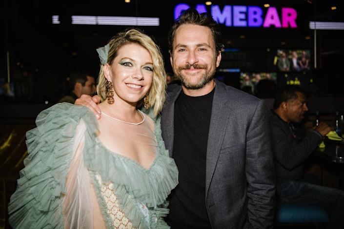 """Real-life couple Mary Elizabeth Ellis and Charlie Day, also known as """"The Waitress"""" and Charlie Kelly, attends FX's """"It's Always Sunny In Philadelphia"""" Season 14 premiere."""