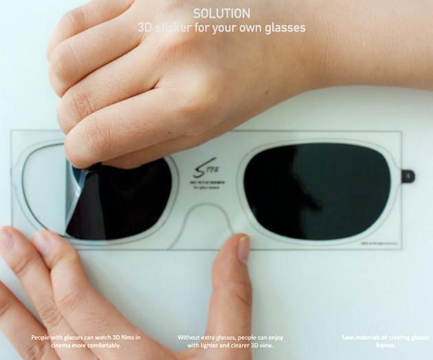 ca420cf57e5c STIX are sticker lenses that you can attach to eyeglasses and turn them into  3D glasses. The stickers are polarized filters that peel off and stick to  the ...