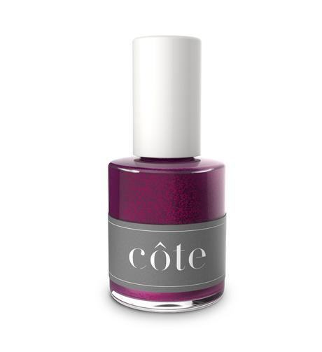 """<h3>Côte Nail Polish in No. 105</h3> <br>If you're not into huge flecks of glitter on your nails, try a bright base color with fine-grain glitter mixed in. """"A subtly sparkly fuchsia shade is a great way to dress up your nails for the fall,"""" says Saunders. We're obsessed with Côte's glittery magenta polish — it's bold and 100% <a href=""""https://www.refinery29.com/en-us/best-non-toxic-nail-polish"""" rel=""""nofollow noopener"""" target=""""_blank"""" data-ylk=""""slk:non-toxic"""" class=""""link rapid-noclick-resp"""">non-toxic</a>.<br><br><strong>Côte</strong> Nail Polish in No. 105, $, available at <a href=""""https://coteshop.co/collections/all-polish-1/products/no-105"""" rel=""""nofollow noopener"""" target=""""_blank"""" data-ylk=""""slk:goop"""" class=""""link rapid-noclick-resp"""">goop</a><br>"""
