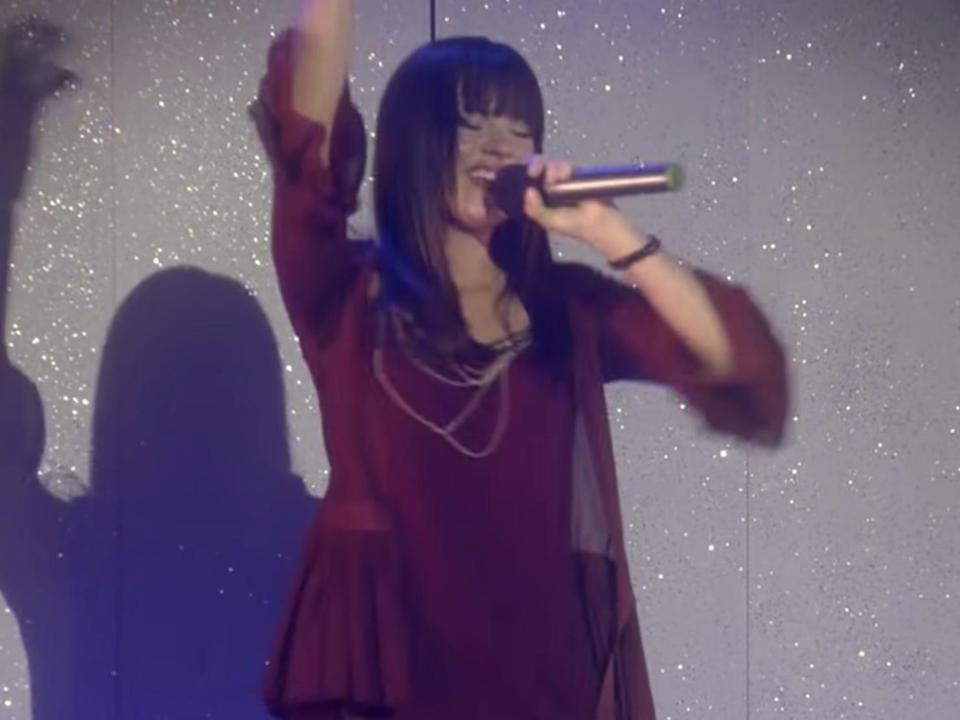 demi lovato as mitchie in camp rock singing this is me