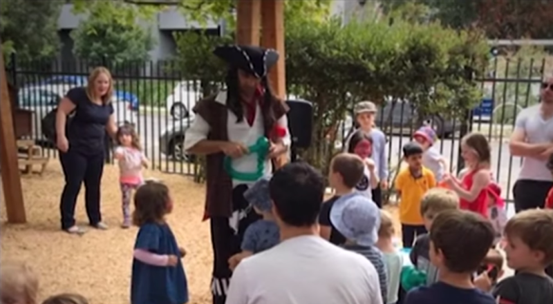 A Melbourne childcare centre is at the centre of controversy over the introduction of Sustainability Pirate (pictured).