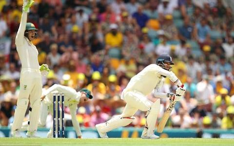 <span>Spinner-on-spinner: Moeen Ali out LBW to Nathan Lyon</span> <span>Credit: Getty </span>
