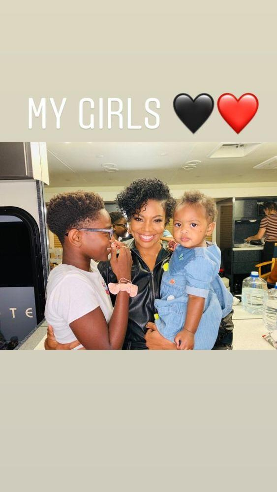 Gabrielle Union with Zion and Kaavia | Dwyane Wade/ Instagram