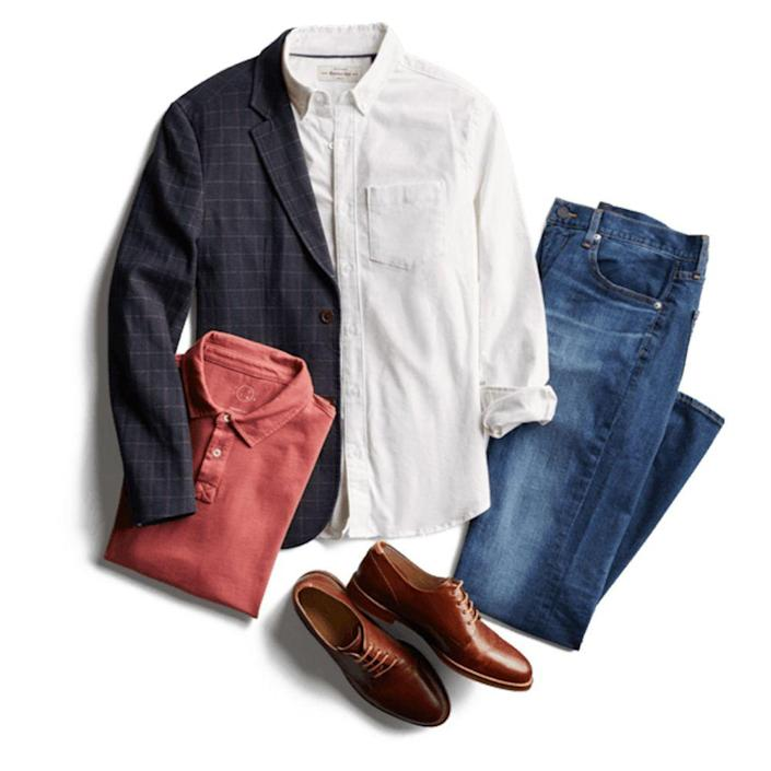 """<p>stitchfix.com</p><p><a href=""""https://go.redirectingat.com?id=74968X1596630&url=https%3A%2F%2Fwww.stitchfix.com%2Fsignup%3Fbl%3Dmen&sref=https%3A%2F%2Fwww.menshealth.com%2Ftechnology-gear%2Fg19521968%2Fcool-gifts-for-dad%2F"""" rel=""""nofollow noopener"""" target=""""_blank"""" data-ylk=""""slk:BUY IT HERE"""" class=""""link rapid-noclick-resp"""">BUY IT HERE</a></p><p>Even if <a href=""""https://www.menshealth.com/style/a19849830/dad-shoe-sneaker-trend-nike-new-balance/"""" rel=""""nofollow noopener"""" target=""""_blank"""" data-ylk=""""slk:dad fashion"""" class=""""link rapid-noclick-resp"""">dad fashion</a> is having a renaissance right now, you owe the big guy much more than a pair of stone-washed jeans and slouchy cardigans. Instead, place him in the good hands of the fashion experts at Stitch Fix, who curate trendy wardrobes based on fit and personal style. Order him a box to test out, and if he's sold, purchase whatever he wants to keep and ship the rest back. </p>"""