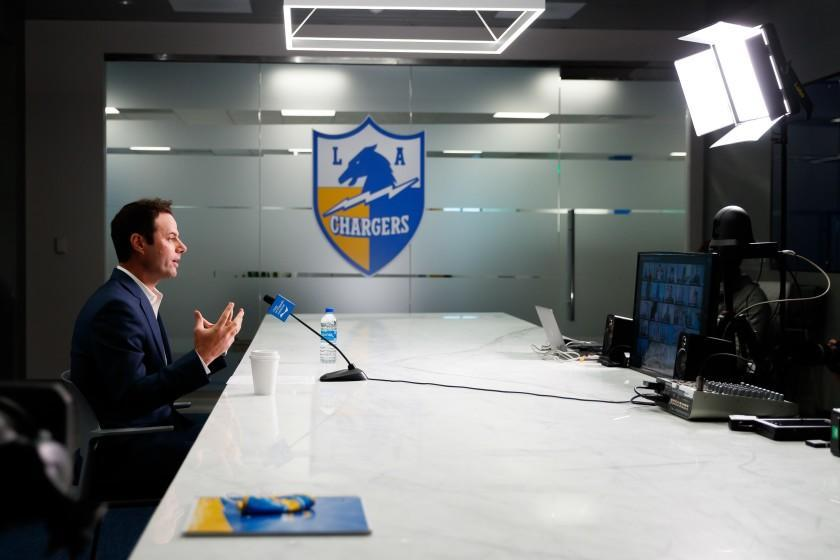 Brandon Staley is introduced as the 17th head coach in Los Angeles Chargers history on Thursday, January 21, 2021 at Hoag Performance Center in Costa Mesa, CA.