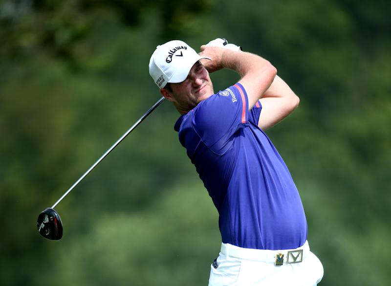 Marc Warren of Scotland hits his tee shot on the fifth hole during the final round of the 96th PGA Championship at Valhalla Golf Club on August 10, 2014 in Louisville, Kentucky