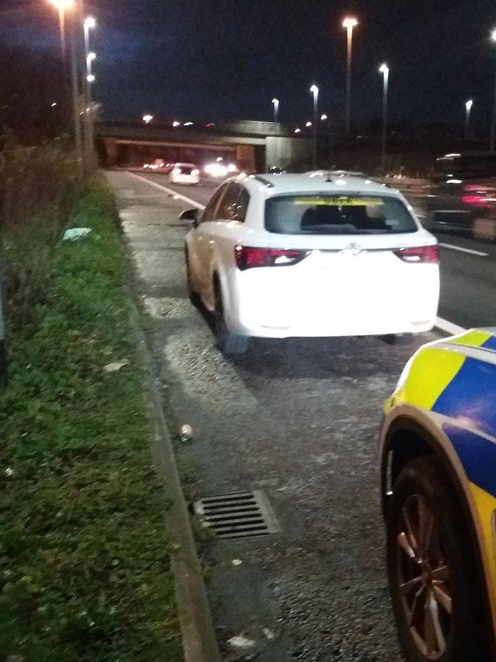 North West Motorway police posted an image of the driver's car on their Facebook page. (North West Motorway police)