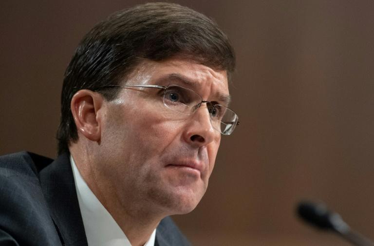US Defense Secretary-Nominee Mark Esper calls Turkey's purchase of a Russian missile defense system 'disappointing' and the 'wrong' decision , nominee to be Secretary of Defense, testifies during a Senate Armed Services Committee confirmation hearing on Capitol Hill in Washington, DC, July 16, 2019. (AFP Photo/SAUL LOEB)