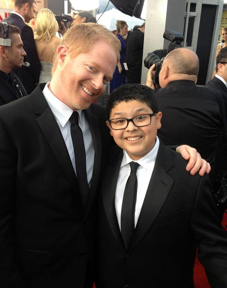 """@JustinMikita: Look who is lighting up the #SAGAwards red carpet! @jessetyler & @starringrico!"" who wore it best? - @jessetyler"
