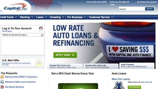 Capital One Website Disrupted