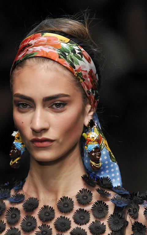 Dolce and Gabbana's controversial earrings - Credit: Getty